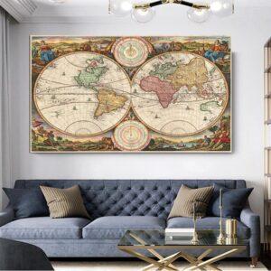 Ancien Globe Terrestre A Plat