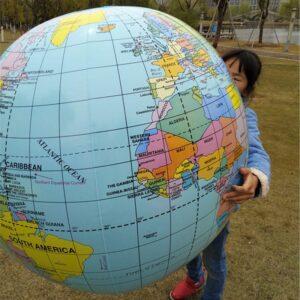 Ballon Globe Terrestre Diametre 80Cm