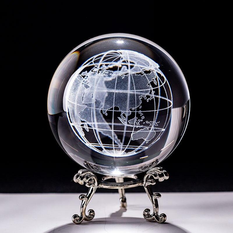 Boule Globe Terrestre En Verre