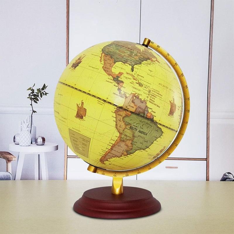 Globe Ancien Lumineux Terrestre