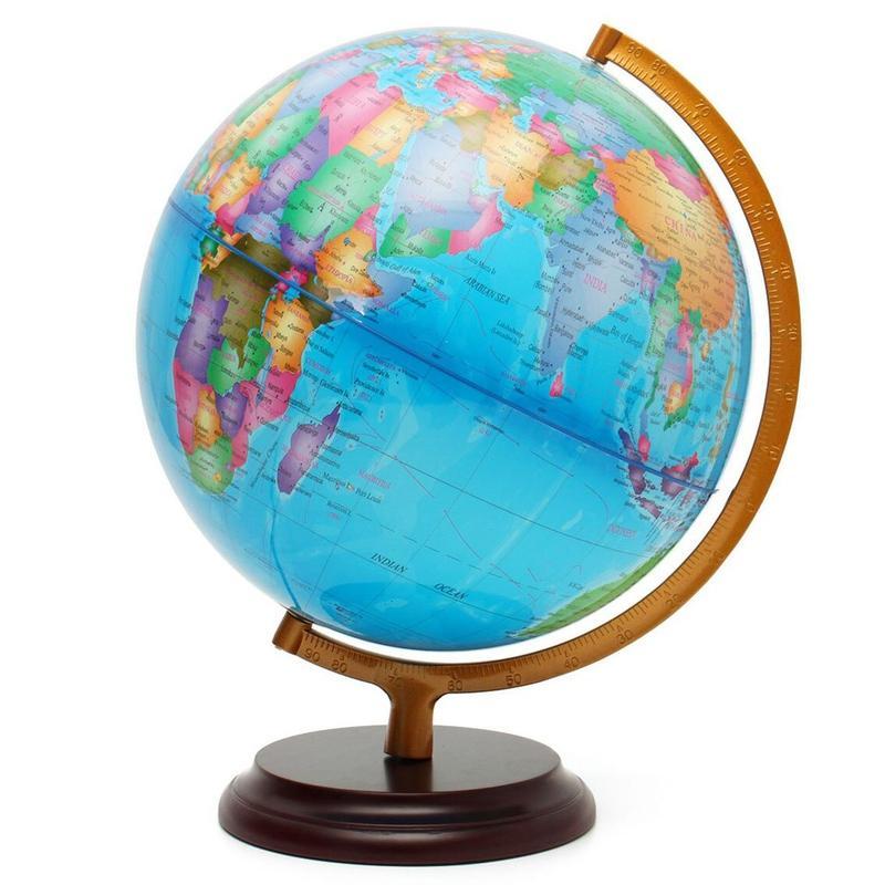 Globe Ancien Lumineux Terrestre 40 Cm