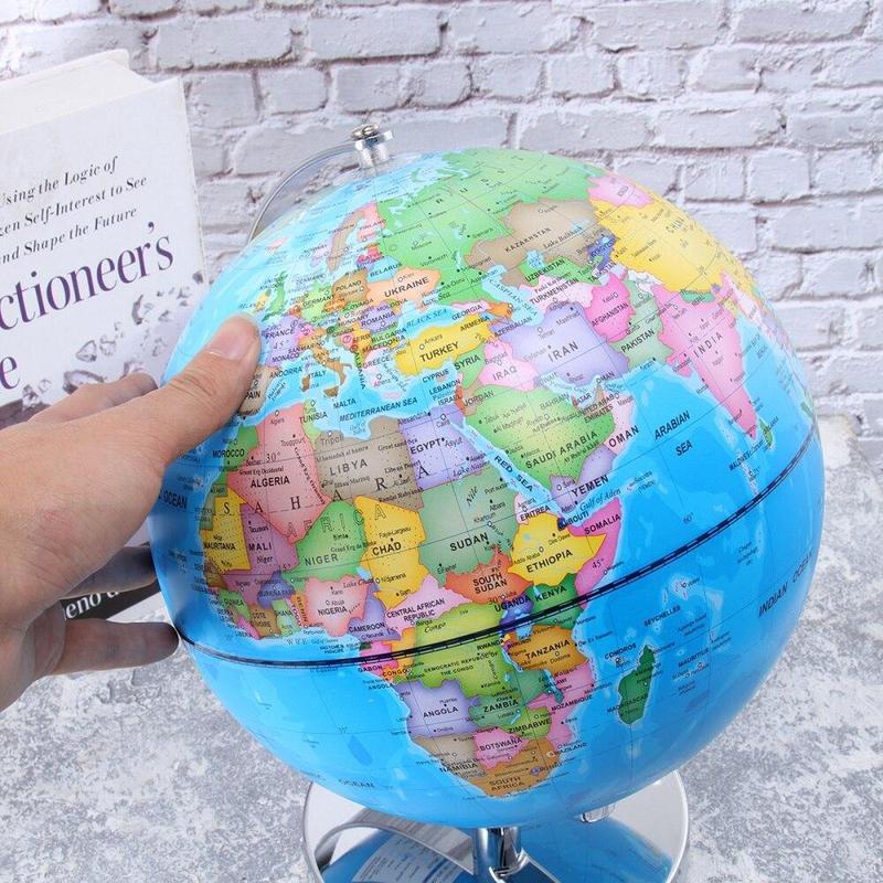 Globe Lumineux Terrestre Et Ciel Etoiles D 30 Cm