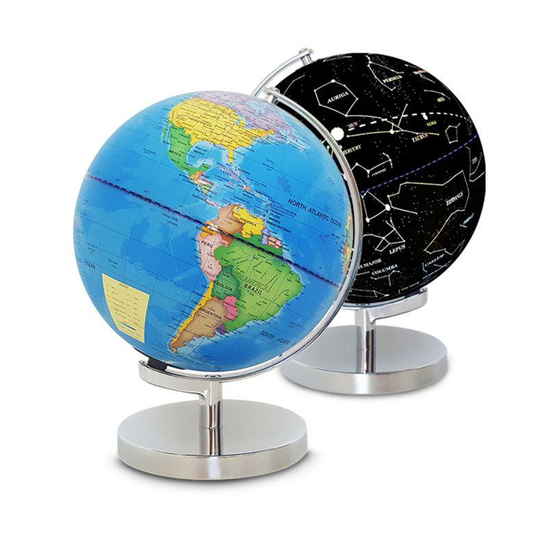 Globe Lumineux Terrestre Et Ciel Etoiles