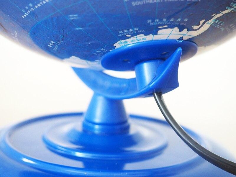 Globe Lumineux Terrestre Socle Bleu
