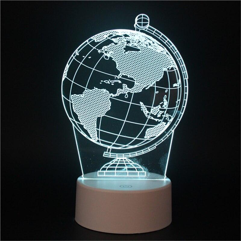 Globe Terrestre 3D Lumineux