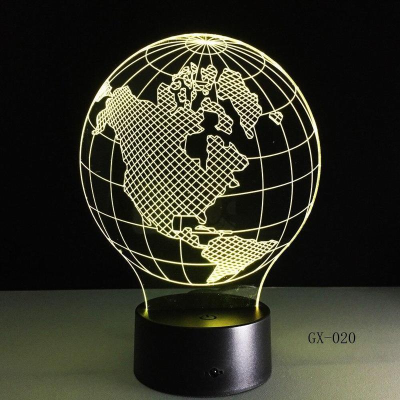 Globe Terrestre 3D Transparence