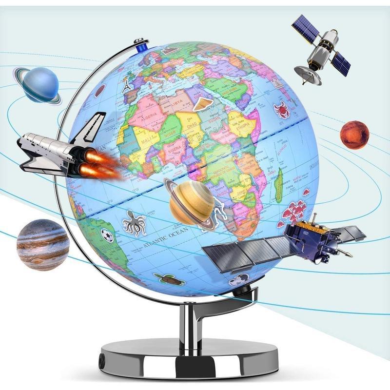 Globe Terrestre 3D Virtuel Relief Marin