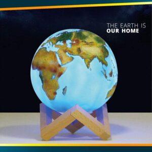 Globe Terrestre Ancien En Relief
