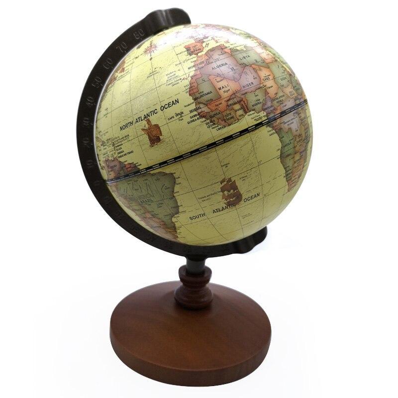 Globe Terrestre Ancien Et Jauni