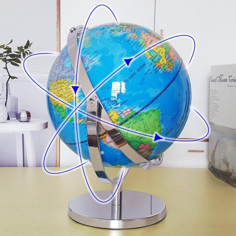 Globe Terrestre Ancien Métal