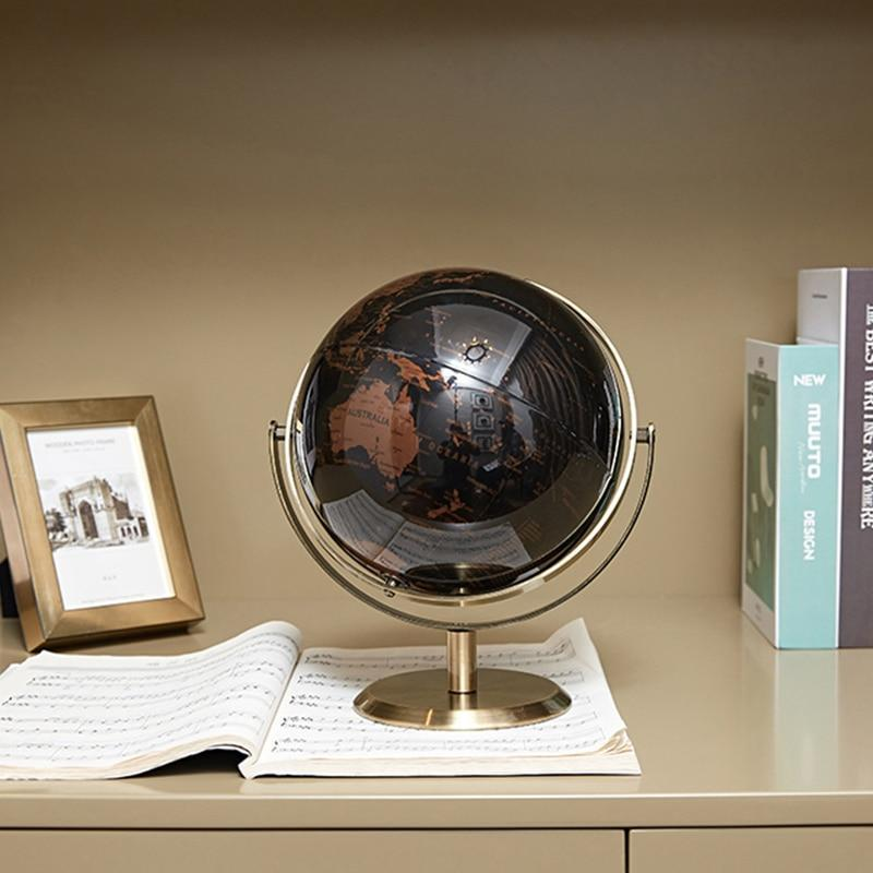 Globe Terrestre Ancien Metal