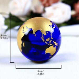 Globe Terrestre Ancien Pied Doré