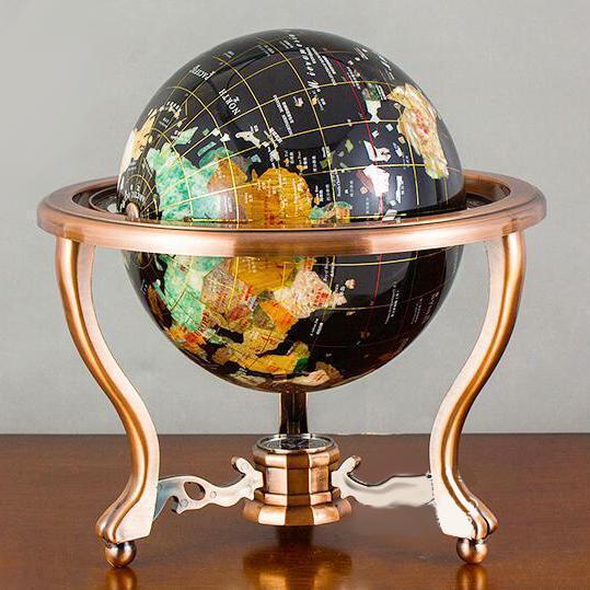 Globe Terrestre Ancien Pied