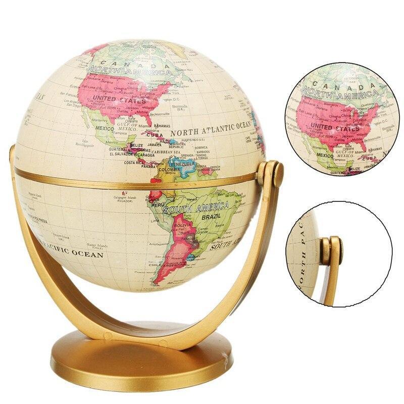 Globe Terrestre Ancien Sur Pied