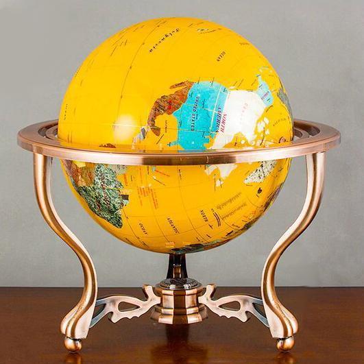 Globe Terrestre Ancien Sur Pied Valeur