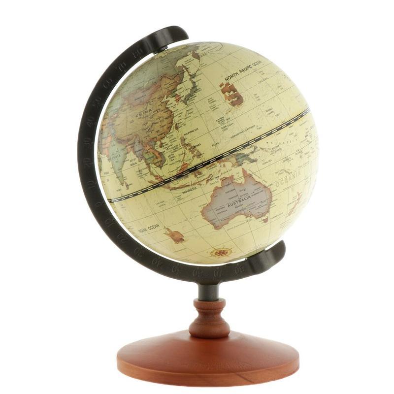 Globe Terrestre Ancien Taille Moyenne
