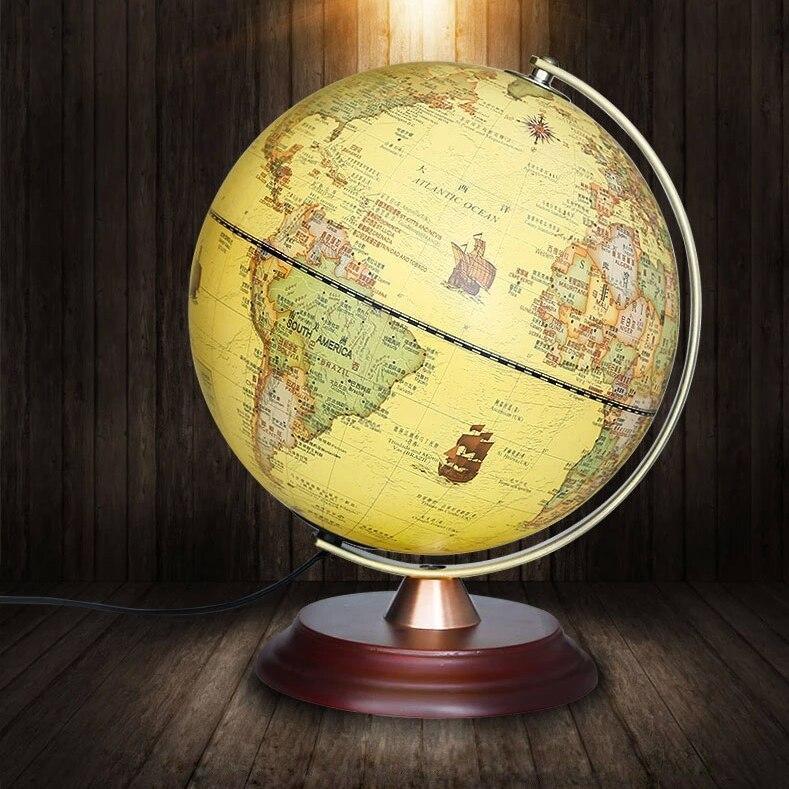 Globe Terrestre Antique Lumineux Vintage