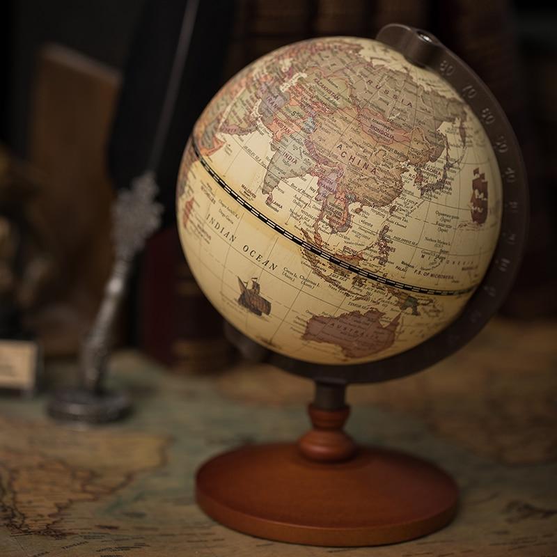 Globe Terrestre Antique Non Lumineux