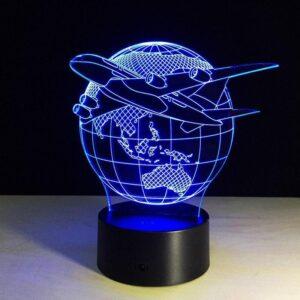 Globe Terrestre Avec Avion