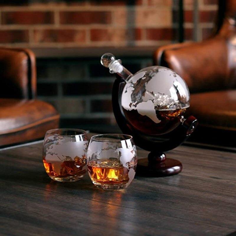 Globe Terrestre Bar Ancien