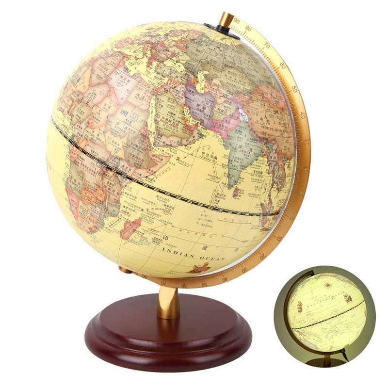Globe Terrestre Brun