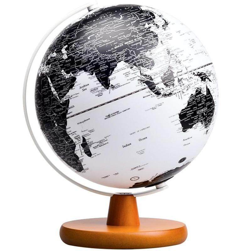 Globe Terrestre Dessin Noir Et Blanc