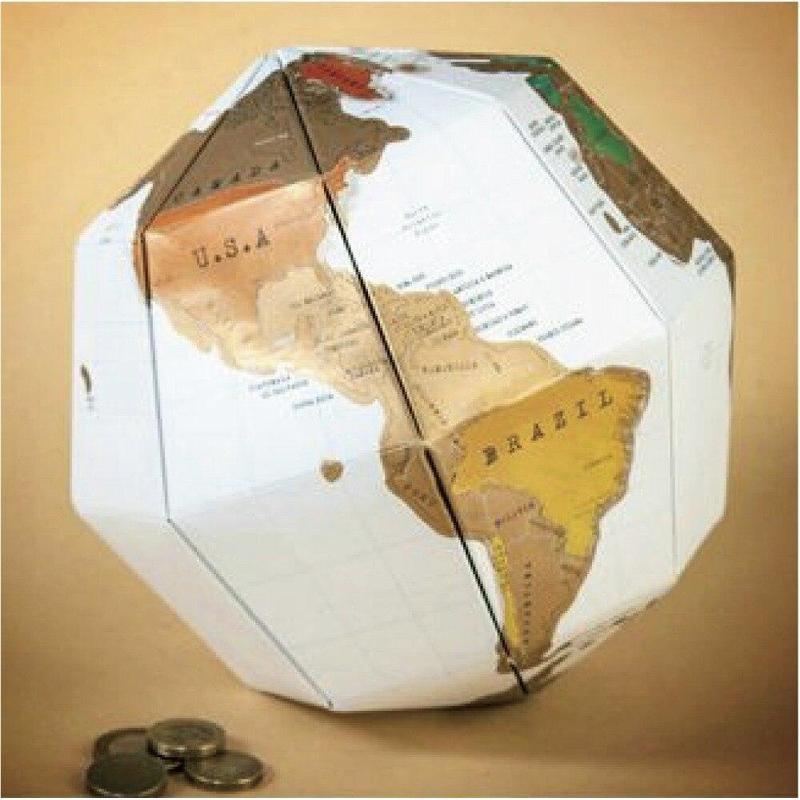Globe Terrestre En Papier Maché