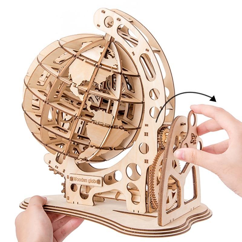 Globe Terrestre En Puzzle 3D