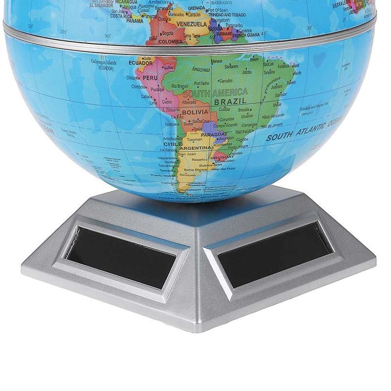 Globe Terrestre En Rotation