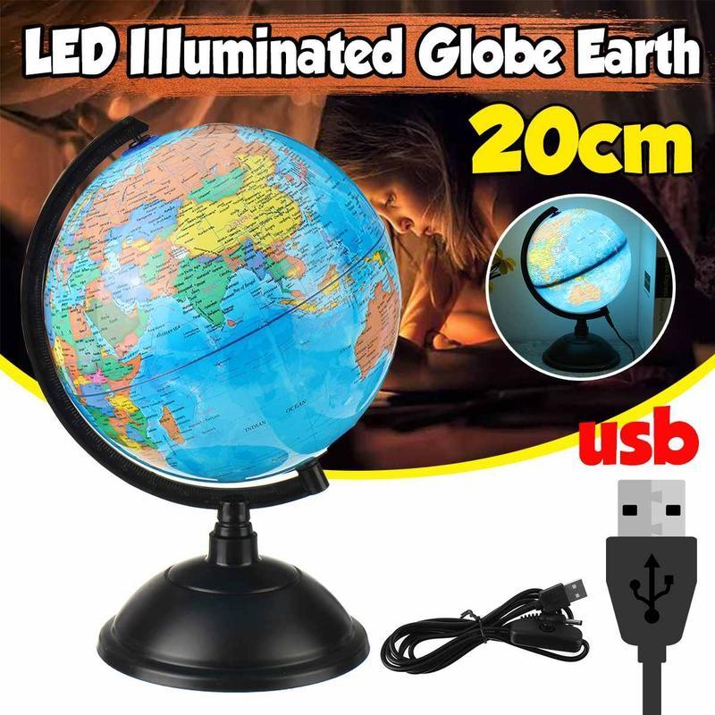 Globe Terrestre Illuminé