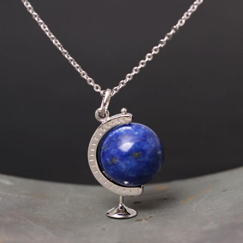 Globe Terrestre Lapis Lazuli