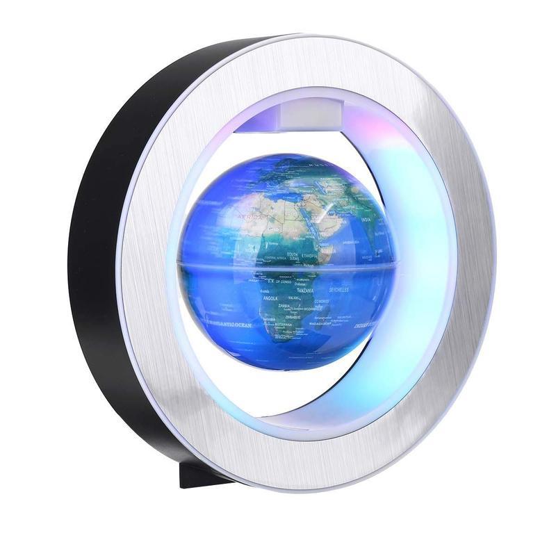 Globe Terrestre Lumineux Bleu