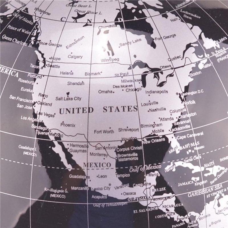 Globe Terrestre Lumineux Noir