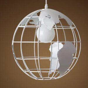 Globe Terrestre Lumineux Suspendu