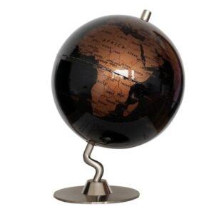 Globe Terrestre Metal Ancien