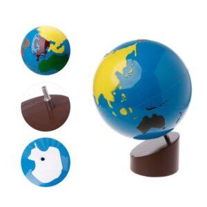 Globe Terrestre Montessori