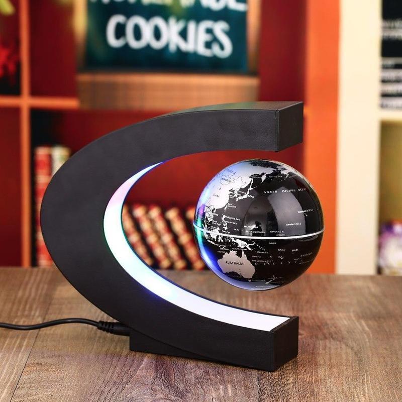 Globe Terrestre Noir Lumineux