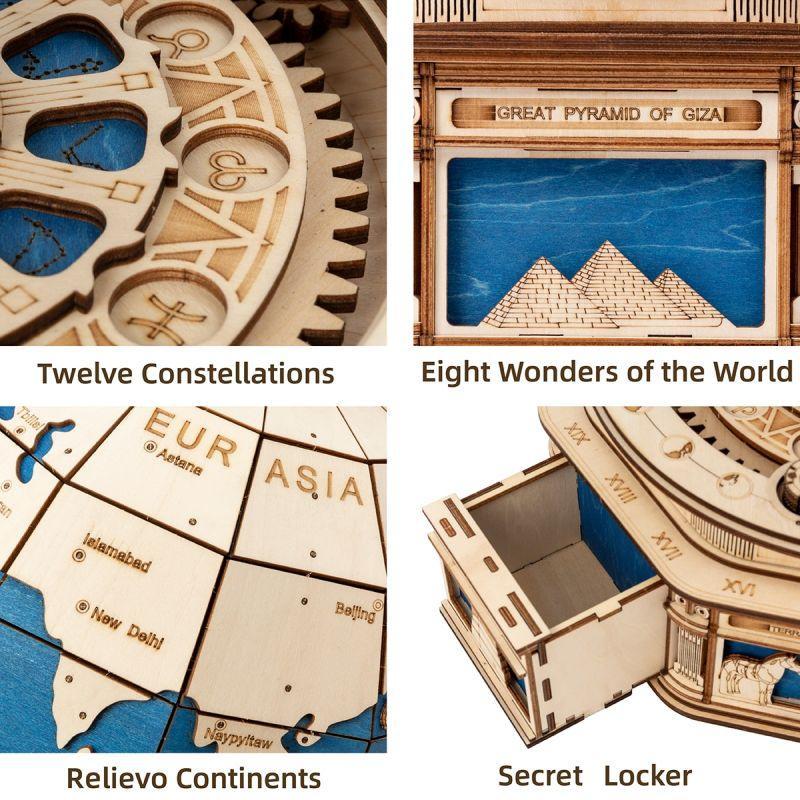 Globe Terrestre Puzzle 3D
