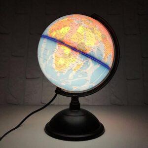 Globe Terrestre Rose Lumineux