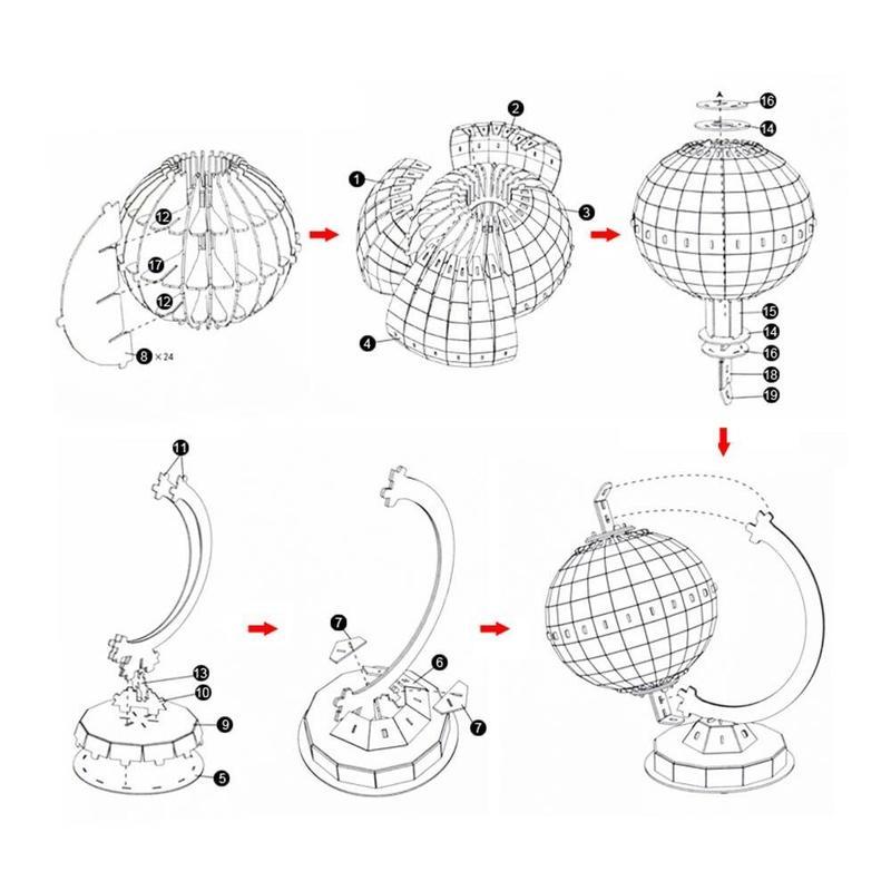 Globe Terrestre Stylo
